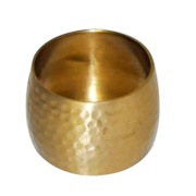 Gold Hammered Napkin Ring