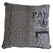 Grey Paris Lace and Table Cushion