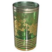 Indian Tumbler D Green and Gold