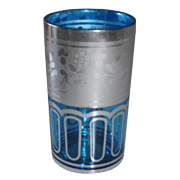 Indian Tumbler B Blue and Silver