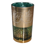 Indian Tumbler F Green and Gold