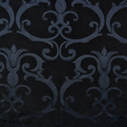 Jaquard Table Cloth Demask Black