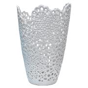 Lace Vase Cone White
