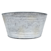 Lime Wash Oval Planter