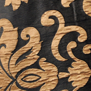 Luxury Table Cloth French Damask Black and Gold