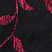 Luxury Table Cloth Leaf Black and Red