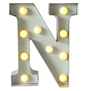 Marquee Letter N