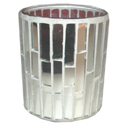 Mosaic Mirror Votive Straight