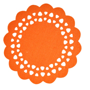 Orange Felt Placemat Small