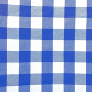 Overlay Gingham Blue and White