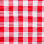 Overlay Gingham Red and White Large