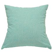 Pastel Cushion Cover Aqua Blue with White Flower Detail