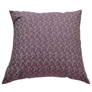 Pastel Cushion Cover Purple with White Flower Detail