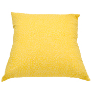 Pastel Cushion Cover Yellow with White Flower Detail