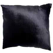 Plush Velvet Cushion Cover Black