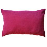 Plush Velvet Cushion Cover Pink Plain