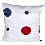 Polka Dot Cushion Blue and Red Dots