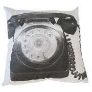 Printed Telephone Black on White