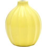 Ribbed Bud Vase Yellow