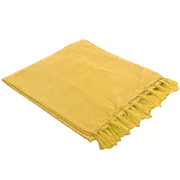 Ribbed Throw Yellow