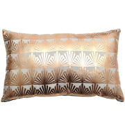 Rose Gold Art Deco Cushion Cover