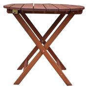 Round Foldup Garden Table Teak