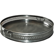 Round Engraved Metal Tray