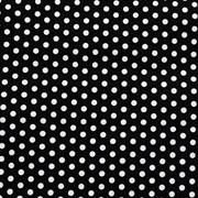Runner Black with White Polka Dots