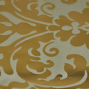 Runner Floral Foil Gold and Stone