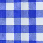 Runner Gingham Blue Medium Square