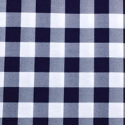 Runner Gingham Navy Medium Square