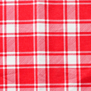 Runner Gingham Red Medium Square