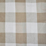 Runner Gingham Stone Large Square
