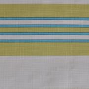 Runner Stripe Print Lime White Turquoise
