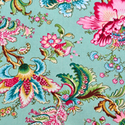 Runner Tropical Aqua and Pink Florals