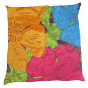 Satin Applique Cushion Cover Tropical