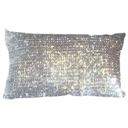 Sequin Cushion Cover Silver