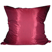 Shot Satin Cushion Cover Burgundy