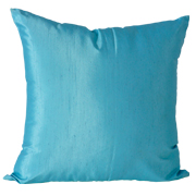 Shot Satin Cushion Cover Turquoise Blue Small