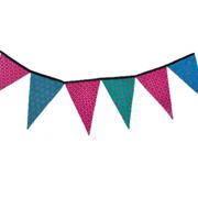 Shweshwe Bunting Pink, Blue & Turquoise
