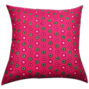 Shweshwe Print Cushion Cover Pink, Green and Turquiose