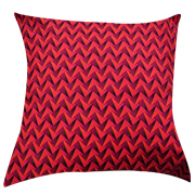 Shweshwe Print Cushion Cover Pink, Orange and Black
