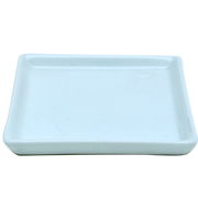 Side Plate Ceramic Square Small White