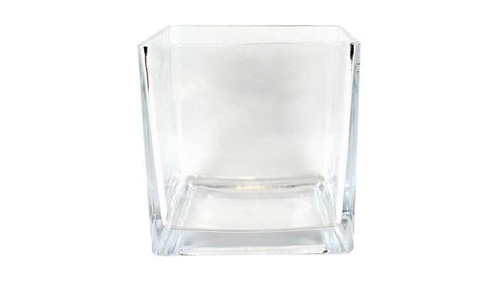 Square Glass Cube Vase Mini