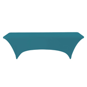 Standard Trestle Tablecloth Stretch Cover Turquoise