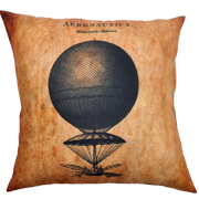 Steampunk Cushion Cover Blanchards Balloons