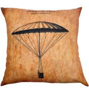 Steampunk Cushion Cover Garnerin Descending