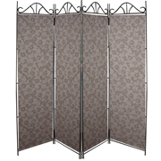 Stone Floral Room Divider Covers Dark on Light