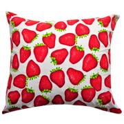 Strawberry Cushion White