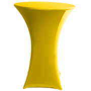 Stretch Cocktail Tablecloth Yellow
